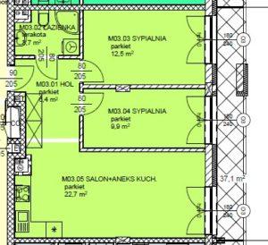 Mieszkanie 3 Trzypokojowe