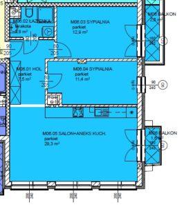 Mieszkanie 6 Trzypokojowe
