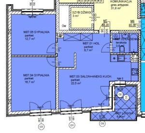 Mieszkanie 7 Trzypokojowe