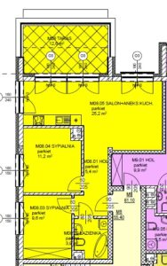 Mieszkanie 8 Trzypokojowe